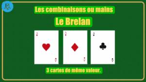 Combinaison brelan poker 3 cartes Agadir