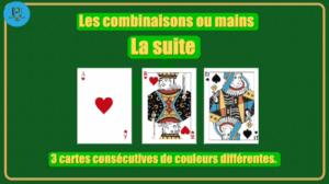 Combinaison suite poker Agadir