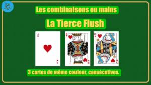 Combinaison tierce flush poker 3 cartes shem's casino