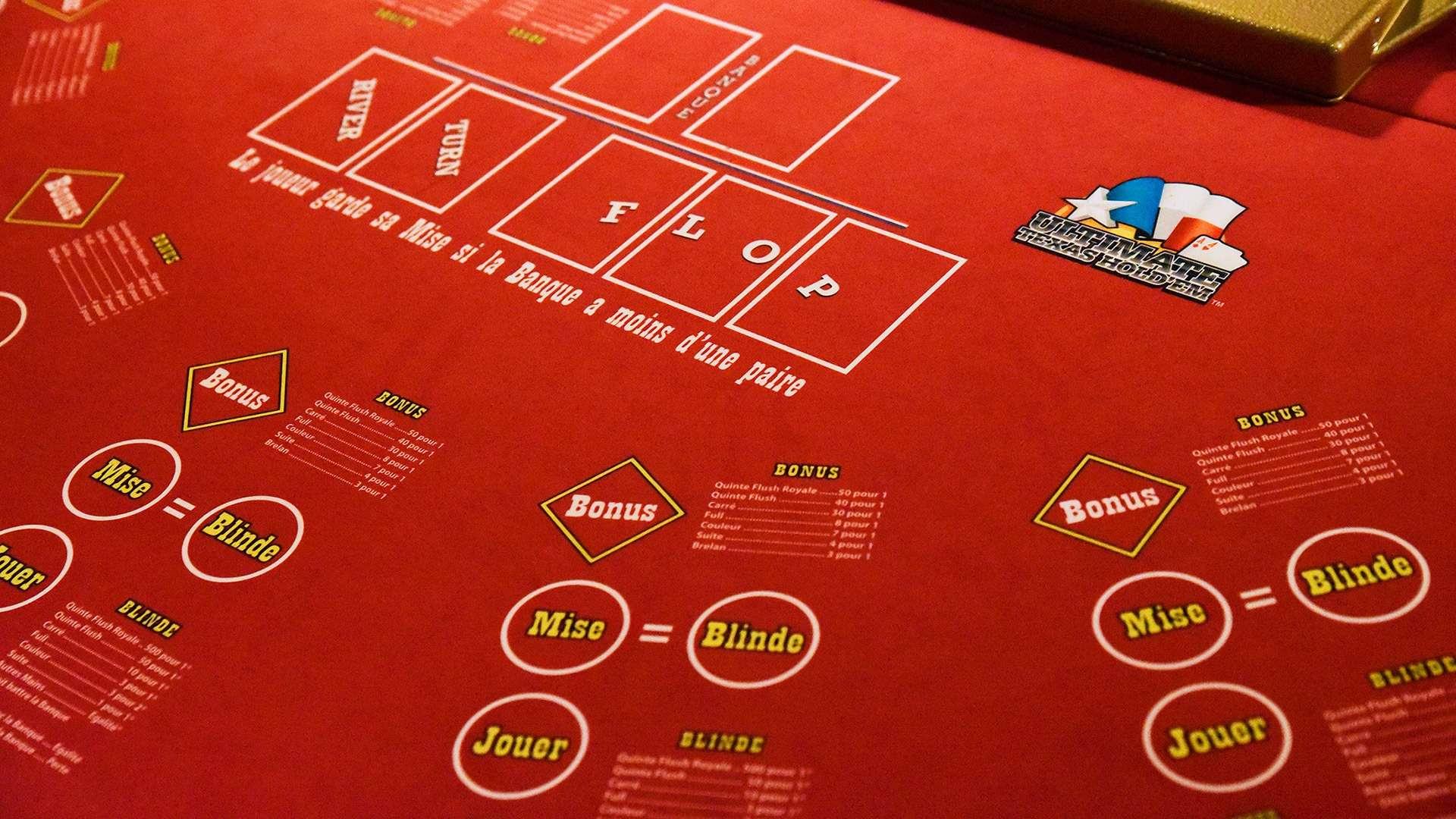 Tapis ultimate poker
